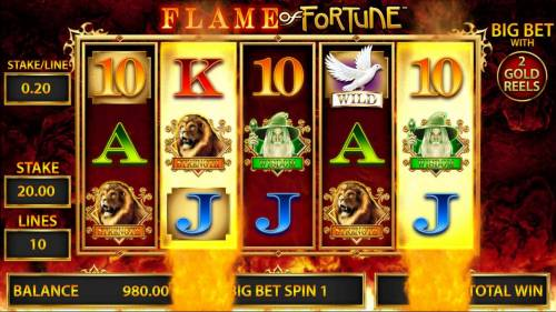 Flame of Fortune Big Bonus Slots There are two golden reels during the Big Bet Games.