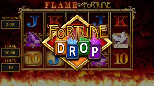 Flame of Fortune Big Bonus Slots Fortune Drop awarded.