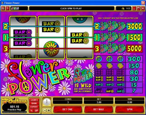 Flower Power review on Big Bonus Slots