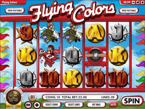 Flying Colors review on Big Bonus Slots