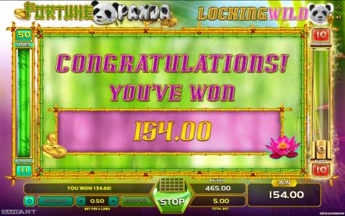 Fortune Panda Big Bonus Slots Total free games payout 159 coins