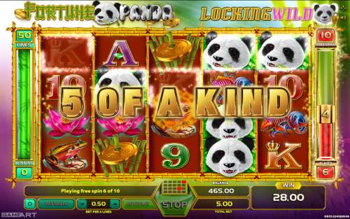Fortune Panda Big Bonus Slots A winning five of a kind