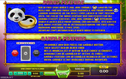 Fortune Panda Big Bonus Slots Feature Rules