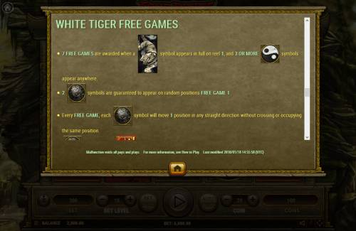 Four Divine Beast Big Bonus Slots White Tiger Free Spins