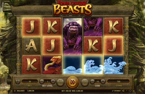 Four Divine Beast Big Bonus Slots Multiple winning paylines