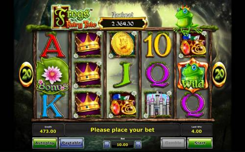 Frog's Fairy Tale review on Big Bonus Slots