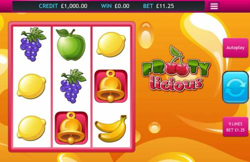Frooty Licious Big Bonus Slots Main Game Board