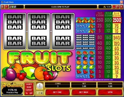 Fruit Slots review on Big Bonus Slots