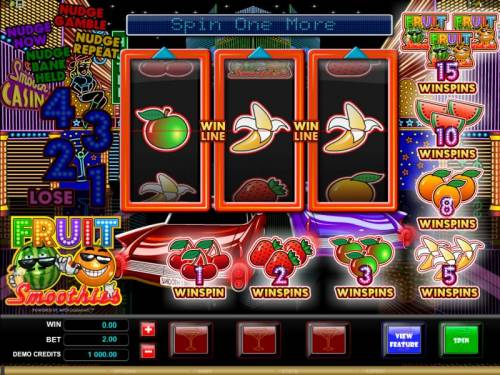 Fruit Smoothies review on Big Bonus Slots