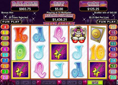 Funky Monkey review on Big Bonus Slots