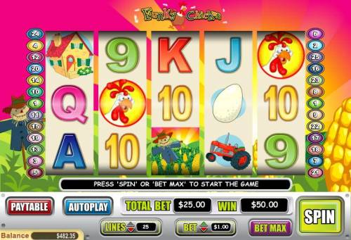 Funky Chicken review on Big Bonus Slots