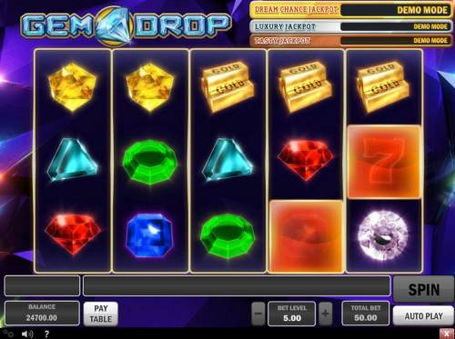 Gem Drop Big Bonus Slots Random Block Feature