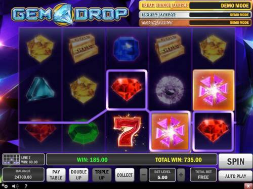 Gem Drop Big Bonus Slots Re-spin trigger an additional payout