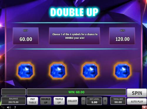 Gem Drop Big Bonus Slots Double Up Gamble Feature Rules