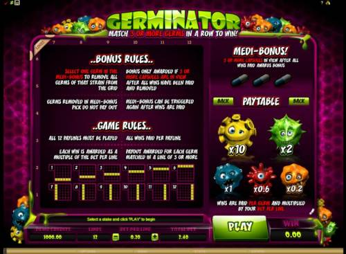 Germinator review on Big Bonus Slots