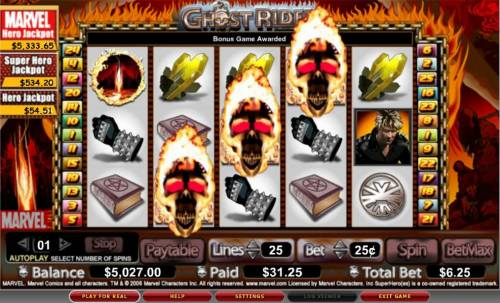 Ghost Rider review on Big Bonus Slots