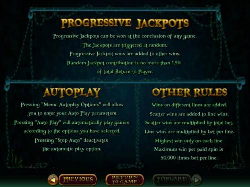 Ghost Ship Big Bonus Slots Progressive Jackpot Rules - Progressive jackpots can be won at the conclusion of any game. The jackpots are triggered at random.