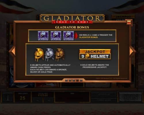 Gladiator Road to Rome Big Bonus Slots Bonus Game Rules