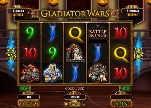 Gladiator Wars review on Big Bonus Slots