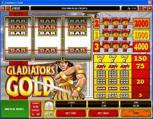 Gladiators Gold review on Big Bonus Slots
