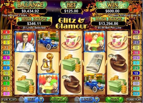 Glitz & Glamour review on Big Bonus Slots