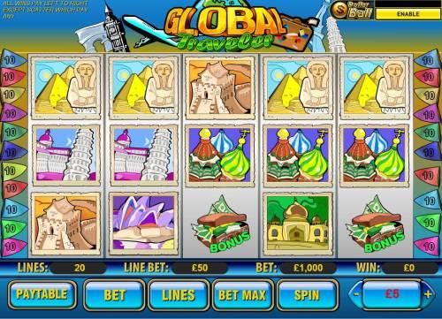 Global Traveler review on Big Bonus Slots