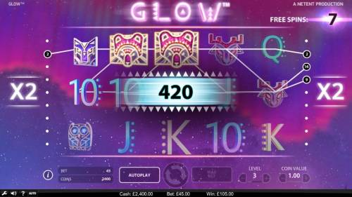 Glow Big Bonus Slots Multiple winning paylines triggers a big win!