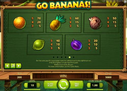Go Bananas review on Big Bonus Slots