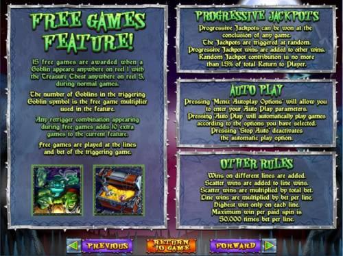 Goblin's Treasure Big Bonus Slots paytable 2