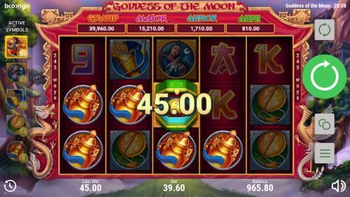 Goddess of the Moon Big Bonus Slots Multiple winning paylines