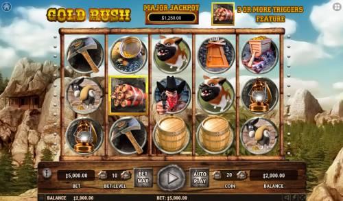 Gold Rush review on Big Bonus Slots