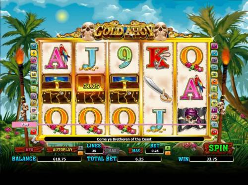 Gold Ahoy Big Bonus Slots pick a treasure chest to reveal your prize