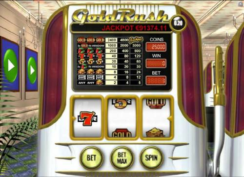 Gold Rush review on Big Bonus Slots