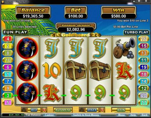 Goldbeard review on Big Bonus Slots