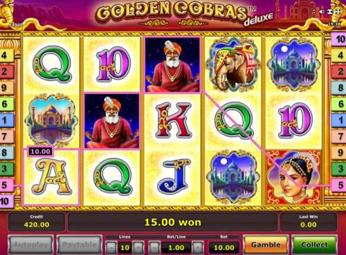 Golden Cobras Deluxe Big Bonus Slots A winning three of a kind