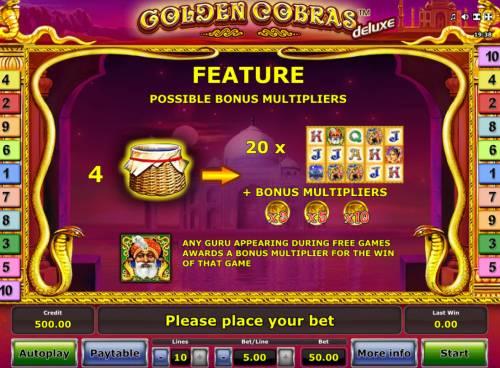 Golden Cobras Deluxe Big Bonus Slots Free Game Rules