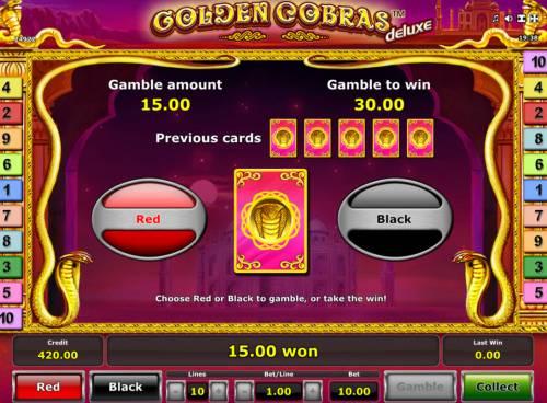 Golden Cobras Deluxe review on Big Bonus Slots