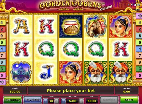 Golden Cobras Deluxe Big Bonus Slots Main Game Board