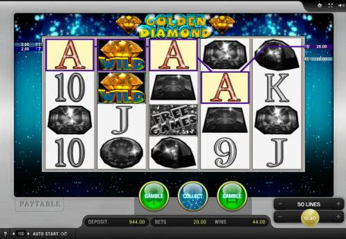 Golden Diamond Big Bonus Slots Multiple winning paylines
