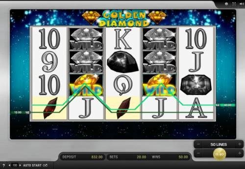 Golden Diamond Big Bonus Slots Four of a kind