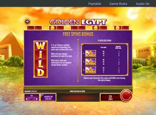 Golden Egypt review on Big Bonus Slots