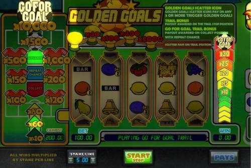 Golden Goals review on Big Bonus Slots