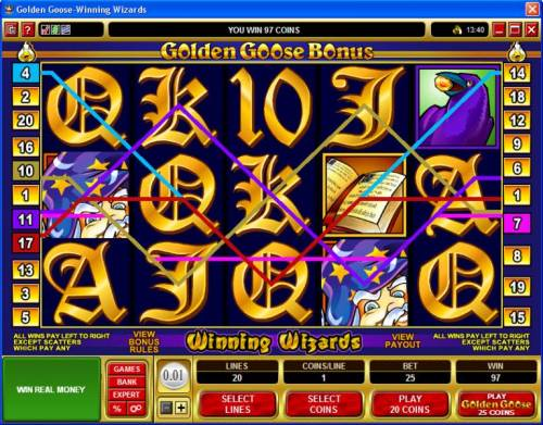 Golden Goose - Winning Wizards review on Big Bonus Slots