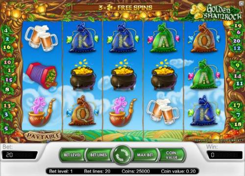 Golden Shamrock review on Big Bonus Slots