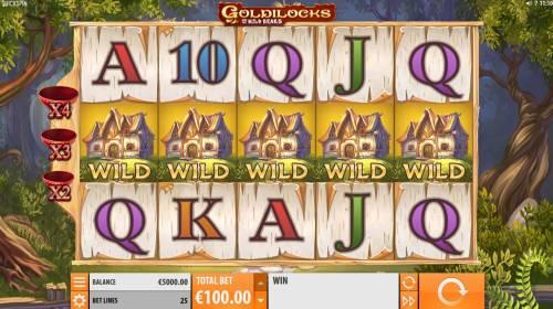Goldilocks and the Wild Bears Big Bonus Slots Main Game Board