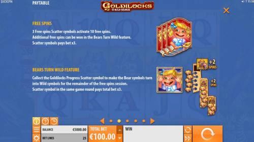 Goldilocks and the Wild Bears Big Bonus Slots Free Games Bonus Rules