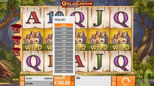 Goldilocks and the Wild Bears Big Bonus Slots Betting Options