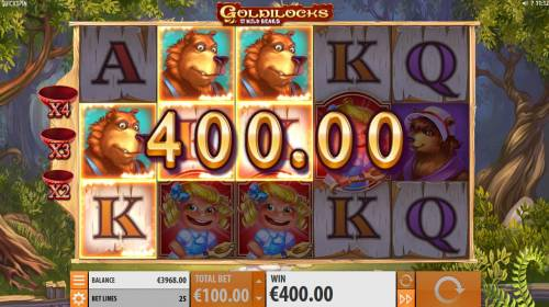 Goldilocks and the Wild Bears Big Bonus Slots Multiple winning paylines triggers a big win
