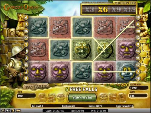 Gonzo's Quest review on Big Bonus Slots