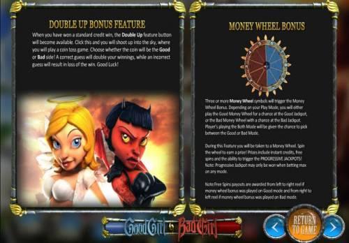 Good Girl Bad Girl Big Bonus Slots double up bonus feature and money wheel bonus rules